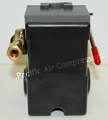 034-0026 Sanborn Pressure Switch 140 Psi On 175 Psi Off Four Port Unloader Valve