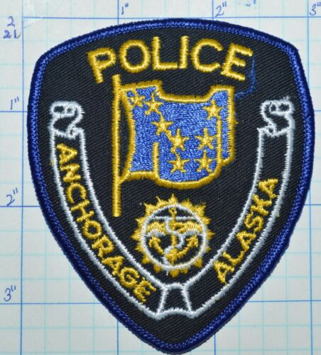 """ALASKA, ANCHORAGE POLICE DEPT SMALL 3.5"""" HAT PATCH"""