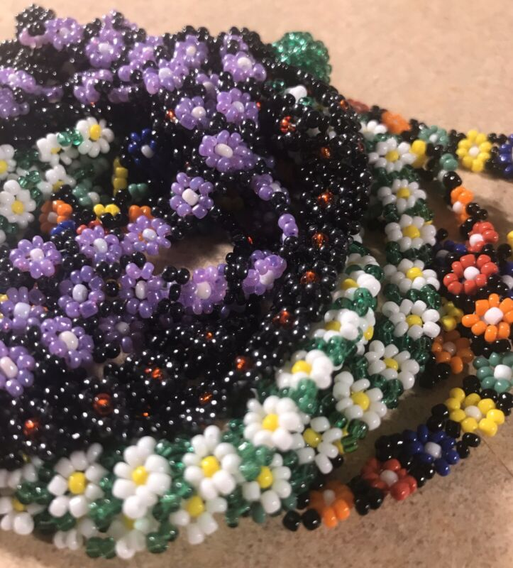 12 Pc Lot Daisy Seed Bead Anklets Ankle Bracelet