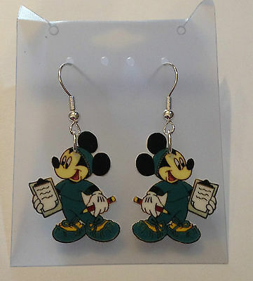 Mickey Mouse Earrings Nurse Dr Healthcare In Scrubs Charms