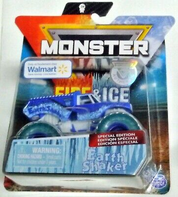 HOT WHEELS 2019 MONSTER JAM Earth Shaker SPIN MASTER Fire & Ice Special Edition
