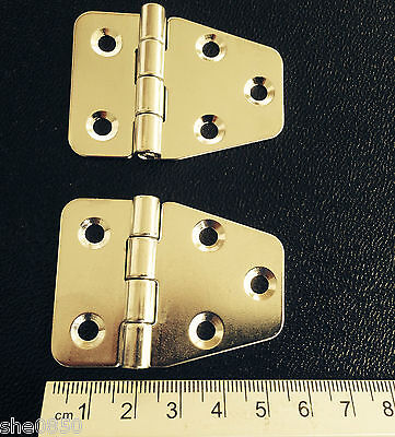 STAINLESS STEEL HINGES x 2 TRUCK/HORSEBOXES/TRAILER/BOATS ***FREE POST***