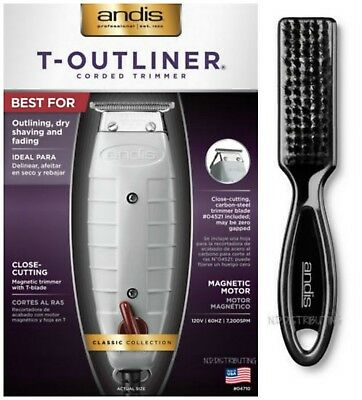 ANDIS T-OUTLINER Trimmer #04710 Professional Barber Authorized Dealer AND BRUSH!