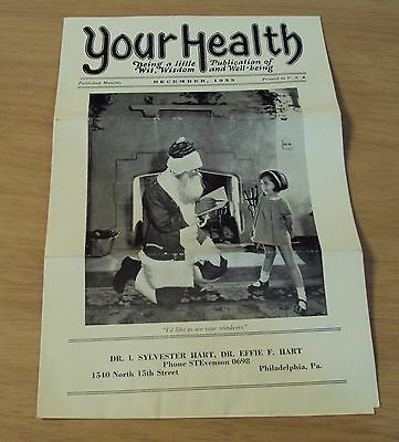 1933 News Bulletin  Your Health  Wit Wisdom Well Being Osteopathy