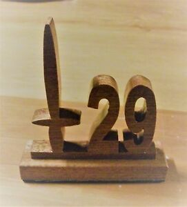 29 COMMANDO ROYAL ARTILLERY SCROLLSAW HARDWOOD DESK ORNAMENT