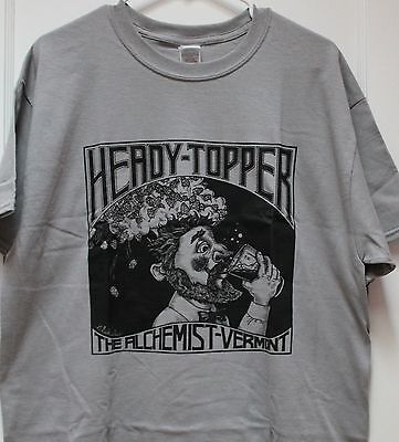 Heady Topper Grey T-Shirt. Craft Beer Shirt Size Medium. Brand New empty (Make Craft Beer)