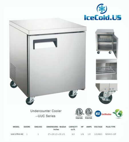 Counter Work Top Commercial Cooler Under Counter Refrigerator