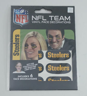 Pittsburgh Steelers Team Logo NFL Eye Black Strips (6 Each)