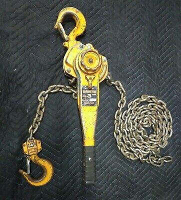 Harrington 3 Ton Lever Chain Hoist 11 Ft Lift Lb030 Comalong 3t X 11 Ft