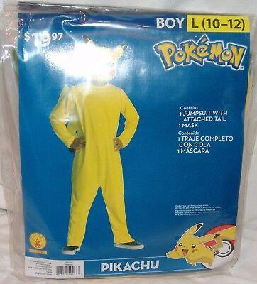 Pokemon Pikachu Kostüm Neu Jungen L 10 12 2 Stück Halloween ()