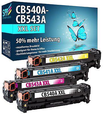 4 TONER 125A XXL 50% MEHR FÜR HP COLOR LASERJET CP1510 CP1514n CP1515n CP1518ni Toner Cb543a