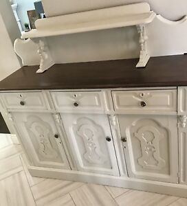 Antique sideboard hutch buffet