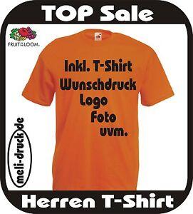 T-Shirt in 26 Farben individuell bedrucken nach eigenem Wunsch Textildruck