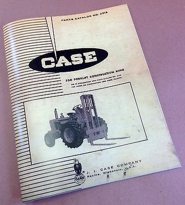 J I Case 530 Forklift Ck Construction King Parts Catalog Manual No. A918