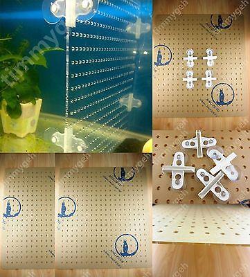 "29 Gallon 11.55""x16.75"" Tank Acrylic Divider Aquarium With Holes 4 Suction Clips"