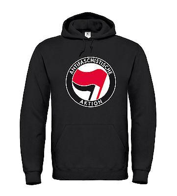 ANTIFASCHISTISCHE AKTION - Hoodie - Antifa Nazis Raus Schwarzer Block Punk