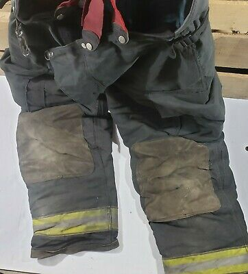 2003 Globe Gx-7 42 X 32 Firefighter Turnout Bunker Pants Trouser W Suspenders