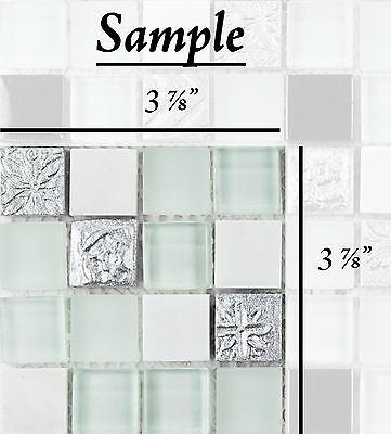 SAMPLE Resin Stone Polished Marble Polished & Frosted Glass Mosaic Backsplash