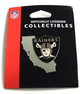OAKLAND RAIDERS NFL STATE SHAPED ENAMEL LAPEL PIN FREE SHIPPING