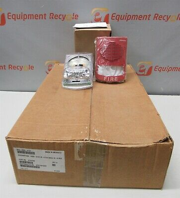 Simplex 4906-9151 Truealert Red Wall Mount Speaker Fire Alarm Strobe Lot Of 8