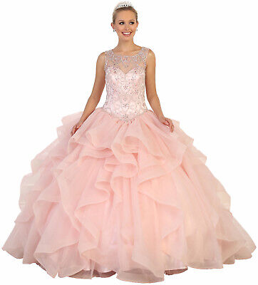 PROM SWEET 16 DRESS QUINCEANERA BALL GOWN MASQUERADE CINDERELLA FORMAL PAGEANT