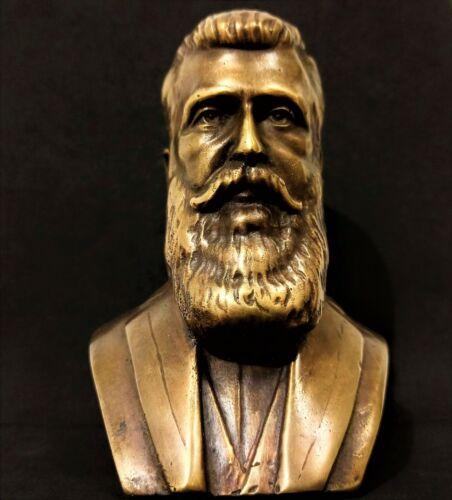 Theodor Herzl Head Sculpture Bronze Statue Figurine Israel Binyamin Ze