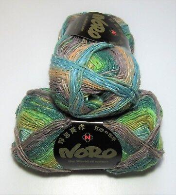 100 gram ball of NORO SILK GARDEN SOCK lambs wool silk knitting yarn #437