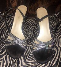Black heel sandals (size 8) Mount Gravatt East Brisbane South East Preview