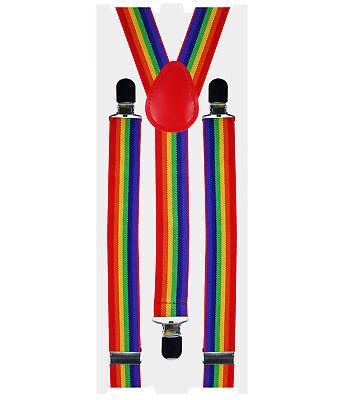 Pride Regenbogen Hosenträger Streifen Lgbt Zirkus Clown Geek Festival Kostüm
