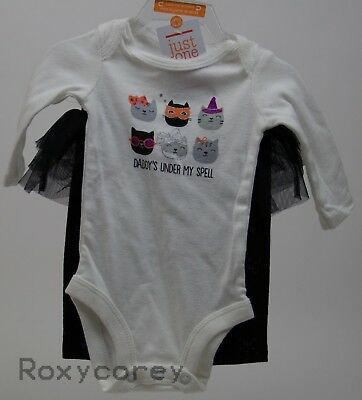 Carter's Daddy's Under My spell Bodysuit and Tutu Pants Size Newborn NWT (Newborn Girl Halloween Costumes)
