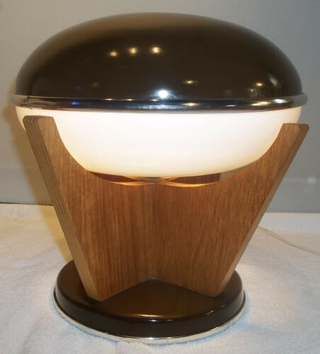 RARE Vintage Danish Modern MCM UFO Flying Saucer Table Lamp  Light