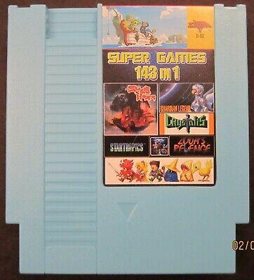 Super Games 143 in 1 Nintendo NES Cartridge Multicart 100 Best - v1.0 Cool Blue Best Nintendo Nes Games