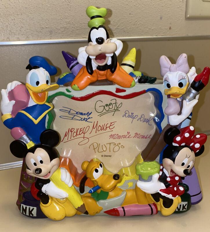 Disney Photo Picture Frame Donald Mickey Minnie Goofy Pluto Daisy Rare Nice !