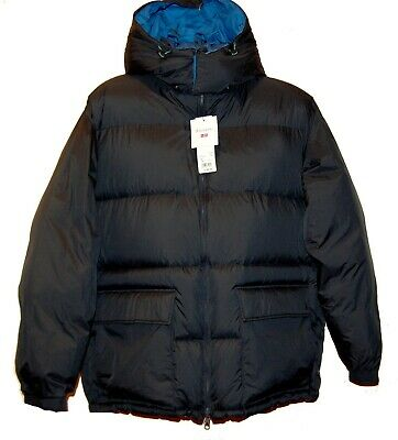 UNIQLO REVERSIBLE NAVY DOWN JACKET (JW ANDERSON) Hood Coat Sz US L