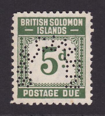 British Solomon Islands. 1940. SG D5s, 5d grey-green, specimen.