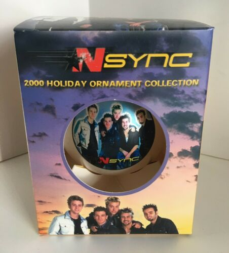 Vintage NSYNC 2000 Band Holiday Christmas Ornament Ball with Box New never used