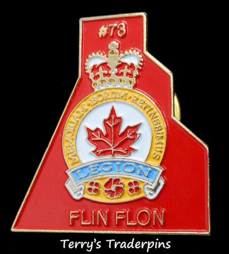 """""""Royal Canadian Legion"""" Pin """"Br 73"""" """"Flin Flon"""" Manitoba Lapel Hat Pin"""