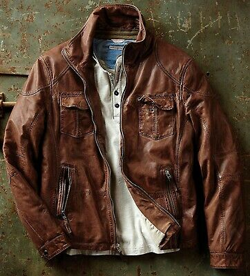 Carbon2Cobalt Zamora Leather Jacket Mens M L XL Sizes NEW