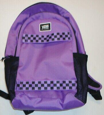VANS Skateboard Skatepack Laptop Backpack Black Purple Skate Bag Multi Pockets