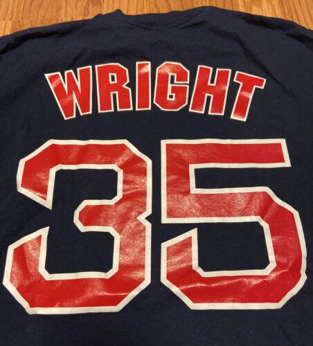 Boston Red Sox STEVEN WRIGHT #35 Pitcher Majestic Blue T-Shi