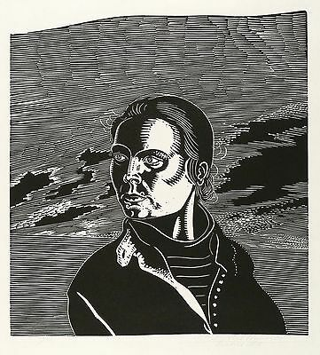 WOLFGANG MATTHEUER - PORTRÄT H.K. - Linolschnitt 1981