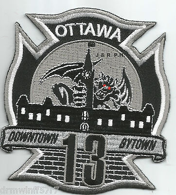 """Ottawa  Station-13, Ontario, Canada  """"Downtown Bytown"""" (3.5"""" x 4"""") fire patch"""