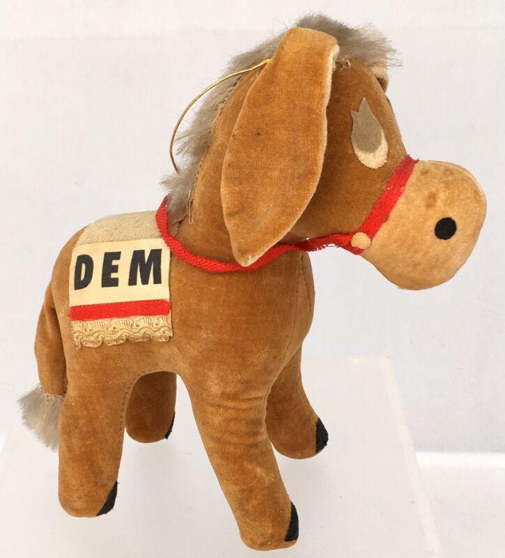 Vintage Democrat Donkey Antique Figure Stuffed Doll Political Democratic Party