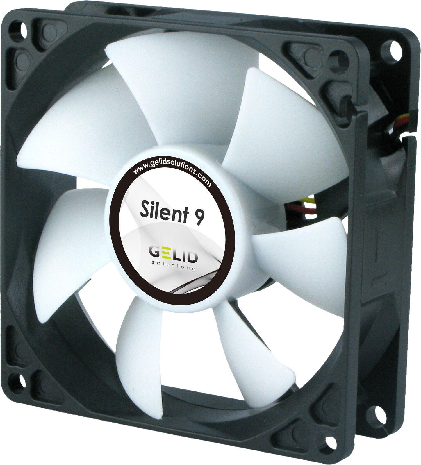 2 x GELID Solutions Silent 9 92mm Case Fans 1500 RPM 31.3 CFM 20.0 dBA