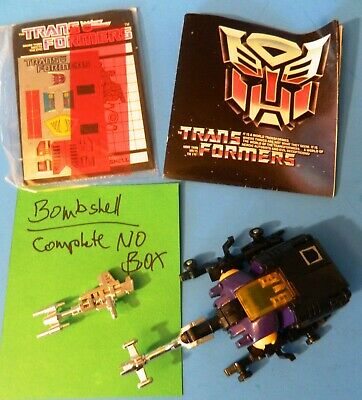 Transformers Original Hasbro G1 1985 Insecticon BOMBSHELL/no Box/Complete/Set B