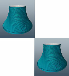 pair of twisted pleat fabric table lampshade ceiling light. Black Bedroom Furniture Sets. Home Design Ideas