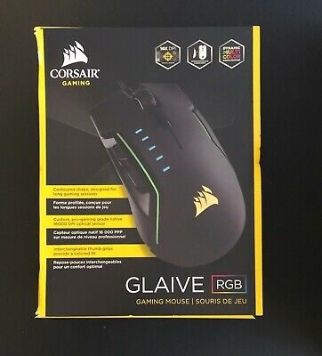 CORSAIR GLAIVE – 16000 DPI Wired Optical Gaming Mouse with RGB Lighting