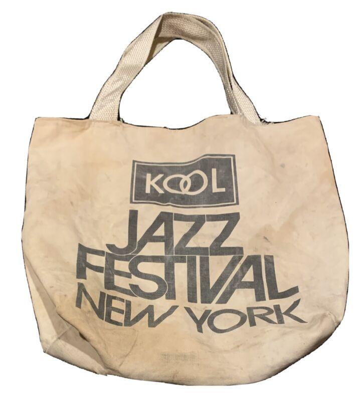Real Vintage KOOL Cigarettes ~Kool Jazz Festival Cotton Tote bag 1980s New York