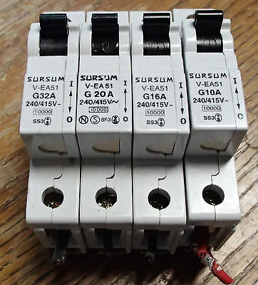 Altech Abl Sursum Breakers G10a G16a G20a G32a 277v Ac Used To Lot Of 4