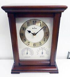 BULOVA MANTEL CLOCK - SHERWOOD - CLOCK, THERMOMETER AND HYGROMETER  B1672